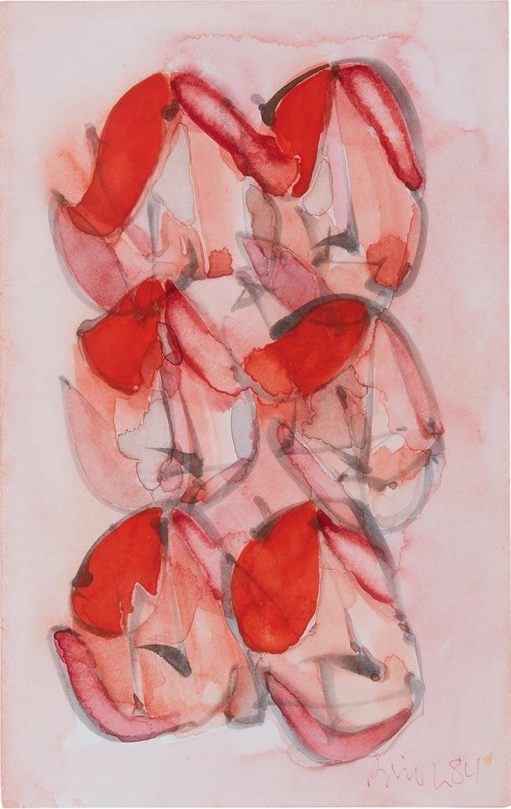 Watercolour by Brion Gysin